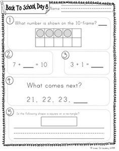 Worksheets Daily Morning Work 1st Grade august first morning work and best sheets on pinterest daily math 1 back to school grade perfect for work