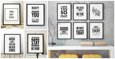 New Black + White Uplifting Typography Prints