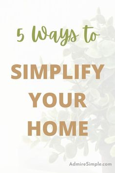Want to declutter and simplify your home but don't know where to start? Here are the cleaning and decluttering tips for simplifying your home and your life. Minimalist Living Tips, Minimalist Kids, Becoming Minimalist, Minimal Living, Simple Living, Declutter Your Mind, Organize Your Life, Organizing Your Home, Making Life Easier