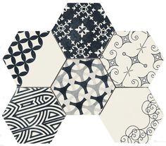 Academy Tiles - Porcelain Tiles - Hexagono 150 x 170mm - 84726 might make a nice splashback