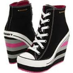 Converse Wedge Heels. I haven't decided how I feel about these. But the m leaning towards cute so I'll pin.