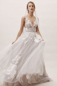 Wedding Gown bhldn spring 2019 bridal sleeveless thick straps v neckline embellished bodice a line ball gown wedding dress sweep train silver color low vback romantic mv -- BHLDN's New Spring 2019 Wedding Dresses Perfect Wedding Dress, Dream Wedding Dresses, Wedding Gowns, Diy Wedding Dress, Alon Livne Wedding Dresses, Modest Wedding, Colored Wedding Dresses, Wedding Flowers, Waters Wedding Dress