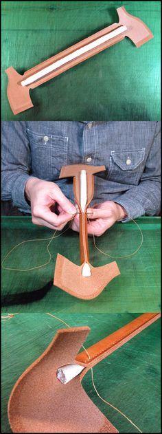 ハンドル縫製