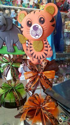 Safari centerpiece Baby shower centerpiece by BabyPartyBoutique Safari Centerpieces, Baby Shower Centerpieces, Baby Shower Decorations, Lion King Baby Shower, Baby Boy Shower, Baby Shower Cards, Baby Shower Themes, Safari Crafts, Safari Birthday Party