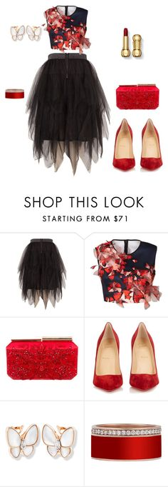 """Untitled #3"" by asshkolnaja ❤ liked on Polyvore featuring Melissa McCarthy Seven7, Clover Canyon, Oscar de la Renta, Christian Louboutin and plus size clothing"