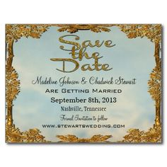 Fairy Tale Wedding Save the Date Postcards