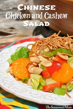 Chinese Chicken and Cashew Salad: the perfect lunch or dinner on a hot summer night!