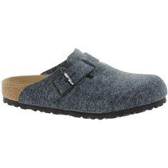 Birkenstock Boston Gray Wool Clogs $88