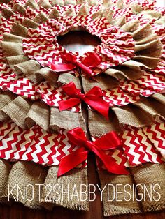 inspiring burlap/chevron tree skirt