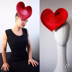 L⭕️VE HEART www.kimwiebenga.com.au Foam Wigs, Spring Racing Carnival, Queen Of Hearts Costume, Holiday Hats, Mad Hatter Hats, Hat Crafts, Burlesque Costumes, Races Fashion, Millinery Hats