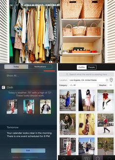 Cloth provides personalized recommendations on what to wear based on local weather conditions and the items in your closet. #Fashion