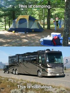 RV vs Camping... Think what you will. Judge if you see fit... I am totally fine with agreeing to disagree! RVs for me.