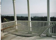 porch hammock with view of ocean