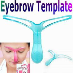 I found 'Professional Eyebrow Template Stencil Shaping DIY Tool' on Wish, check it out! Plucking Eyebrows, How To Color Eyebrows, Eyebrow Makeup, Diy Makeup, Makeup Tools, Makeup Inspo, Eyebrow Template, Stencils Online, Tatuajes