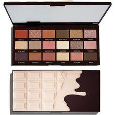 I Heart Revolution Nudes Chocolate Palette - Style&Makeup - Make up Makeup Eyeshadow Palette, Nude Eyeshadow, Eye Palette, Makeup Dupes, Smokey Eye Makeup, Makeup Kit, Makeup Cosmetics, Makeup Geek, Candy Makeup