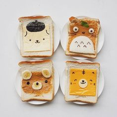 Totoro & friends sandwiches by Anna Chan (@annachaannn)