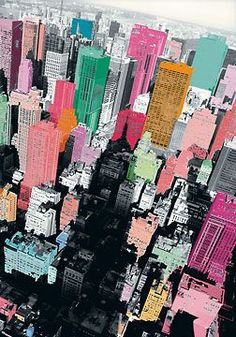 colorful manhattan
