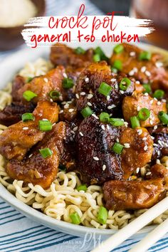 My at-home recipe of Crock Pot General Tso Chicken is just as delicious, healthier, and easy slow cooker dinner. #chicken #Asian #Chinese #recipe #generaltso #slowcooker #crockpot #easy #dinner Best Crockpot Recipes, Best Chicken Recipes, Slow Cooker Recipes, Asian Recipes, Real Food Recipes, Crockpot Dishes, Asian Foods, Chinese Recipes, Chinese Food