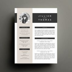 Creative Resume Template and Stunning resume design! Cover Letter Template for Word | DIY Printable Resume 4 Pack | Modern 2 Page Design