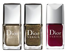 Dior Minaudiere Holiday 2010 Makeup Collection: #226 Timeless Gold – New; #916 Czarina Gold – New; #943 Rouge Garconne – Repromote.