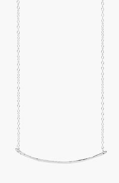 Main Image - gorjana 'Taner' Small Bar Pendant Necklace