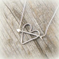 Arrow thru Heart Sterling Silver Valentine by YouCanQuoteMeOnThat, $42.00