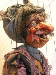 Witch marionette puppet