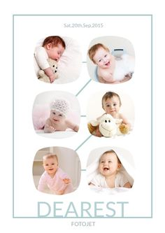 it is a perfect baby photo collage design