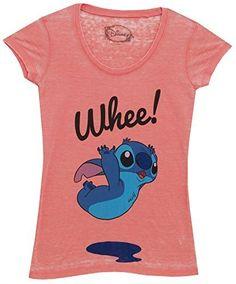 Lilo and Stitch Whee! Disney Movie Mighty Fine Juniors Sheer Burnout T-Shirt Tee, http://www.amazon.com/dp/B00N4FDJJW/ref=cm_sw_r_pi_awdm_uaquxb0SJJRSR