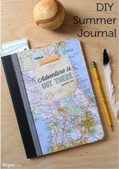 #DIY notebook - a place to jot down your favorite memories from trips.
