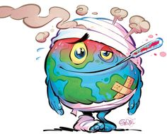 A new paper in a prestigious journal proves a hiatus in global warming. Global Warming Drawing, Global Warming Project, Global Warming Poster, Earth Clipart, Save Earth Drawing, Save Earth Posters, Earth Drawings, Save Our Earth, Poster Drawing
