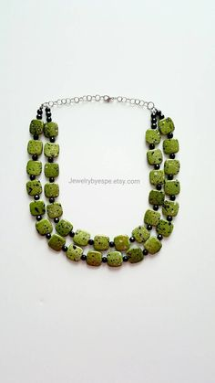 Hey, I found this really awesome Etsy listing at https://www.etsy.com/listing/257209353/olive-statement-necklacedark-green