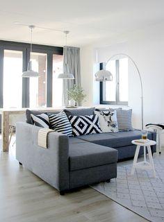 Ikea Friheten Sleeper Sectional in Skiftebo Dark Gray
