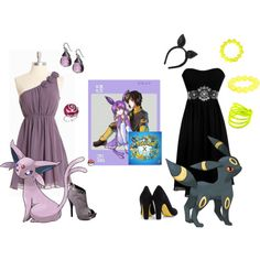 Espeon & Umbreon - Pokemon Halloween Costumes by strawberry-gashes on Polyvore