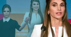 """Egal wo Victoria Beckham auftaucht: Normalerweise bekommt sie die ungeteilte Aufmerksamkeit der Fotografen. Doch beim """"Social Good Summit"""" in New York stahl ihr Rania von Jordanien ganz schön die Show."""