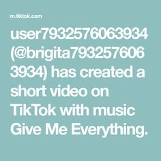 user7932576063934(@brigita7932576063934) has created a short video on TikTok with music Give Me Everything. Texts, The Creator, Create, The Originals, Music, Give Me Everything, Muhammad, Pune, Allah
