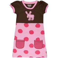 Polka Dot Moose Toddler Dress