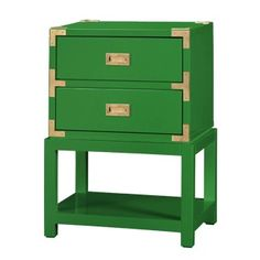 The Tansu 2-Drawer Side Table - Emerald Green is sure to become your favorite piece of furniture