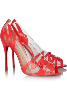 Christian Louboutin | Illusions 100 patent-leather and PVC pumps