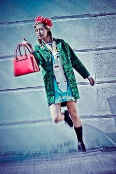 Fashion editorial  for Porsche Design | Hats on clouds | Fashion photography | Urban jungle