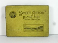 Old Shop Stuff | Old-tobacco-cigarette-tin-for-sale-Sweet-Afton-Banks-Size-flat-50 for sale (20456) Sweet Afton, Tins, Cigar, Smoking, Homes, Flat, Antiquities, Tin Cans, Houses