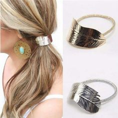 Special Section Korean Hair Accessories Holiday Style Banana Leaves Cross Hair Band Headband Band Wide Girl Metal Elastic Hairbands Turban Apparel Accessories