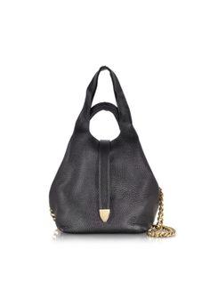 Jil Sander Black Leather String Sack
