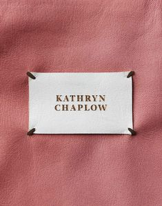 Back in April, Michigan based design and technology studio Conduit unveiled this elegant brand identity for Interior designer Kathryn Chaplow.