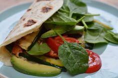 Piadine met kip en groenten - Taste our Joy!