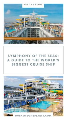 The world's largest cruise ship is the answer to your ultimate family vacation! Royal Caribbean's SYMPHONY OF THE SEAS, is a behemoth floating destination complete with 22 restaurants, 24 pools, cabins that can host guests — plus. Cruise Boat, Cruise Travel, Asia Travel, Philippines Tourism, Philippines Travel Guide, Royal Caribbean International, Royal Caribbean Cruise, Alaskan Cruise Excursions, Biggest Cruise Ship