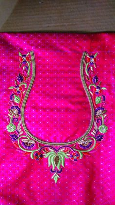 Hand Work Blouse Design, Kids Blouse Designs, Simple Blouse Designs, Stylish Blouse Design, Latest Blouse Neck Designs, Bridal Blouse Designs, Hand Designs, Kurti Embroidery Design, Embroidery Works