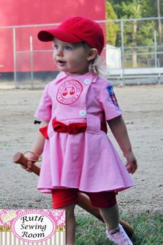 Items similar to Rockford Peach Costume for Dress Up, A league Of Their Own Costume, Baseball Dress, First Birthday Party - Baseball Wedding Custom Handmade on Etsy Old Halloween Costumes, First Halloween, Baby Costumes, Halloween Ideas, Halloween Party, Halloween Stuff, Halloween Runner, Children Costumes, Halloween Halloween