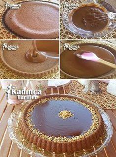 Tart Cake Recipe, How to Make? - Female Recipes -Chocolate Tart Cake Recipe, How to Make? Easy Chocolate Pie, Chocolate Brownies, Chocolate Desserts, Chocolate Cream, Easy Cheesecake Recipes, Pie Recipes, Food Cakes, Cupcake Cakes, Bundt Cakes