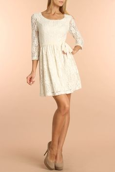 Kensie Lace Dress In Birch - Beyond the Rack